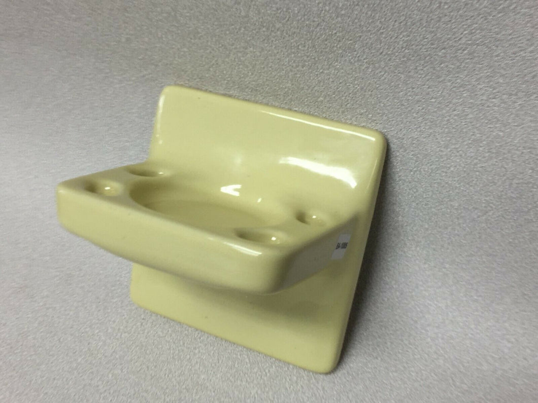 BA-1125 NOS Vintage Ceramic Bathroom Toothbrush & Cup Holder Seafoam Green