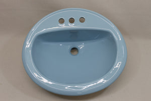 "S-1917 Artesian Industries 17 1/2"" Sink Sterling Blue 1974"