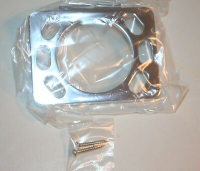 (I-194) NIP Toothbrush & Tumbler Holder Chrome Plated USA 553011 4