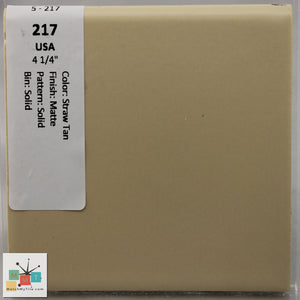 "MMT-217B Vintage 4 1/4"" Ceramic 1 pc Wall Tile USA Straw Tan Matte Bullnose"