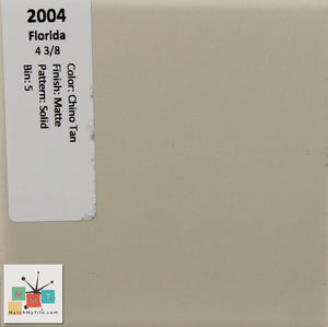 "MMT-2004 Vintage 4 3/8"" Ceramic 1 pc Wall Tile FT Chino Tan Matte"