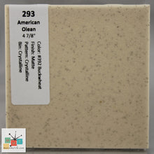 "Load image into Gallery viewer, MMT-293B Vintage 4 1/4"" Ceramic 1pc Tile AO 392 Buckwheat Crystal Matte Bullnose"