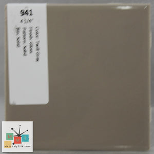 "MMT-941 Vintage 4 1/4"" Ceramic 1 pc Wall Tile Twill Gray Glossy"