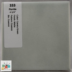 "MMT-333 Vintage 4 3/4"" Ceramic 1 pc Wall Tile FT Canary Green Essence Matte"