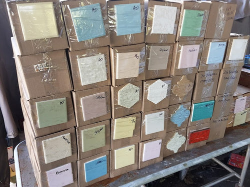 Unsorted Inventory Matched Tile - 1 (one) Bullnose tile