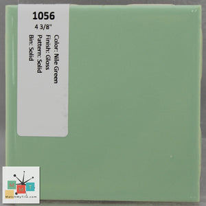 "MMT-1056 Vintage 4 3/8"" Ceramic 1 pc Wall Tile Nile Green Glossy"