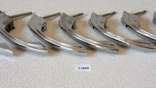 Load image into Gallery viewer, (I-1604) 7 NOS Vintage Mid Century Drawer Pulls Latch Handles Chrome Step Sides