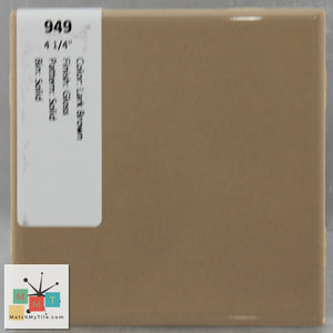 "MMT-949B Vintage 4 1/4"" Ceramic 1 pc Wall Tile Lark Brown Glossy Bullnose"