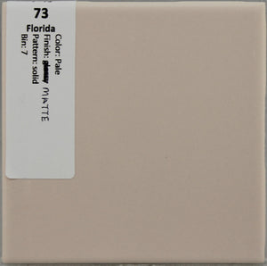 "MMT-73 Vintage 4 3/8"" Ceramic 1 pc Wall Tile FT Pale Pink solid glossy"
