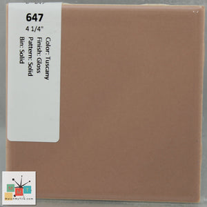 "MMT-647 Vintage 4 1/4"" Ceramic 1 pc Wall Tile Tuscany Peach Glossy"