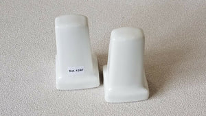 BA-1247 Vintage Ceramic Bathroom White Toilet Paper or Towel Rod Holders Set