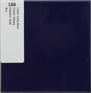 "MMT-166 Vintage 4 3/8"" Ceramic 1 pc Wall Tile navy blue Solid Glossy"