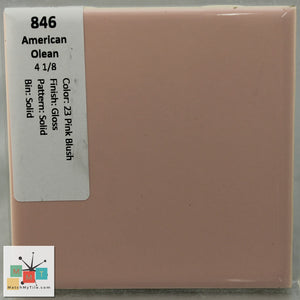 "MMT-846A Vintage 2"" Ceramic 1 pc Tile AO 23 Pink Blush Peach Glossy Angled Edge"