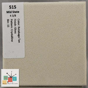 "MMT-515 Vintage 4 3/8"" Ceramic 1 pc Wall Tile Mid-State Tan Crystalline Glossy"