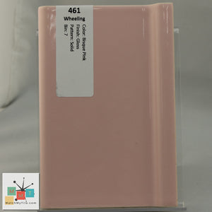 "MMT-461 Vintage 4 1/4"" Ceramic 1 pc Wall Tile Wheeling Bisque Pink Glossy"