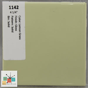 "MMT-1142 Vintage 4 1/4"" Ceramic 1 pc Wall Tile Lemon Grass Green Glossy"