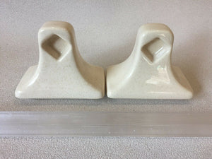 BA-1372B MID CENTURY MODERN Ceramic Bathroom Harvest Towel Bar Rod Holders Set