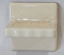 Load image into Gallery viewer, BA-1077 Fancy NOS Vintage Ceramic Bathroom Soap Dish Cream Speckle 4 3/4""