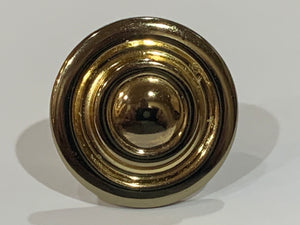 NEW 50 pcs Bright Brass Round Bullseye Cabinte Drawer Pull Hardware Knob w Screw