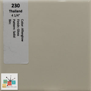 "MMT-230 Vintage 4 1/4"" Ceramic 1 pc Wall Tile Afterglow White Glossy"
