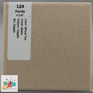 "MMT-124 Vintage 4 3/8"" Ceramic 1 pc Wall Tile FT Wheat Tan Dapple Matte"