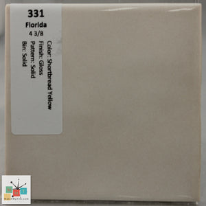 "MMT-331B Vintage 4 3/8"" Ceramic 1 pc Wall Tile FT Yellow Glossy Bullnose"