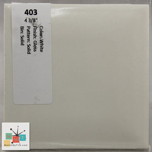 "MMT-403 Vintage 4 3/8"" Ceramic 1 pc Wall Tile White Glossy"