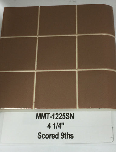 MMT-1225SN Vintage 4 1/4 Ceramic Tile Apple Cinnamon Textures Solid Gloss Hex