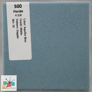 "MMT-500 Vintage 4 3/8"" Ceramic 1 pc Wall Tile FT Aquifer Blue Dapple Matte"