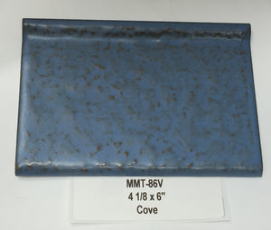"MMT-86V Vintage 4 1/8 x 6"" Ceramic 1 pc Wall Tile AO Dark Blue Tuscany Textured Cove"
