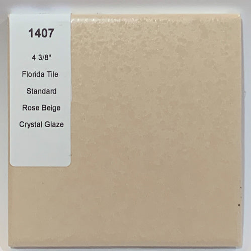 MMT-1407 Vintage 4 3/8 Ceramic 1 pc Wall Florida Tile Tan Peach Crystal Glaze