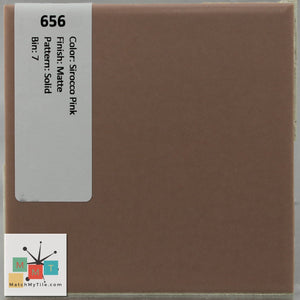 MMT-656B Vintage Ceramic 1 pc Wall Tile Sirocco Pink Matte Bullnose
