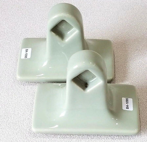 BA-1095 Vintage Ceramic Bathroom Sage Green Towel Bar Rod Holders Set