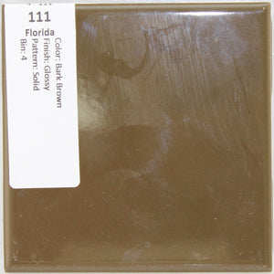 "MMT-111 Vintage 4 3/8"" Ceramic 1 pc Wall Tile FT Bark Brown Solid Glossy"