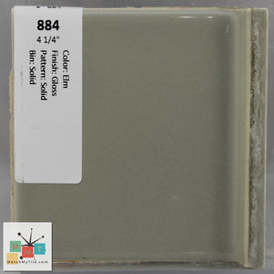 "MMT-884 Vintage 4 1/4"" Ceramic 1 pc Wall Tile Elm Green Glossy"