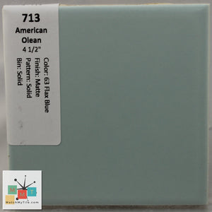 "MMT-713CB Vintage 4 1/2"" Ceramic 1pc Tile AO 63 Blue Brown Matte Corner Bullnose"