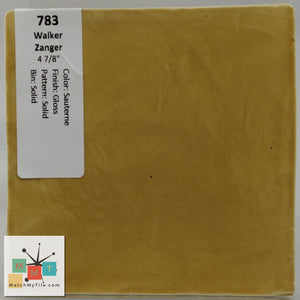 "MMT-783 Vintage 4 7/8"" Ceramic 1 pc Wall Tile Zanger Sauterne Yellow Glossy"