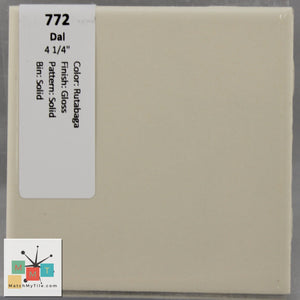 "MMT-772 Vintage 4 1/4"" Ceramic 1 pc Wall Tile Daltile Tan Glossy"