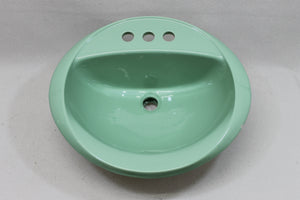"S-1918AI Crane 16 3/4"" Sink Nile Green 1974"