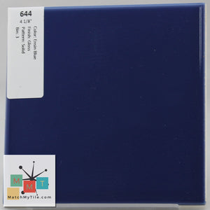 "MMT-644 Vintage 4 1/8"" Ceramic 1 pc Wall Tile Ensign Blue Glossy"