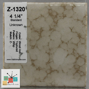 "MMT-1320 Vintage 4 1/4"" Ceramic 1 pc Wall Tile Wood Ash Wisp Texture"