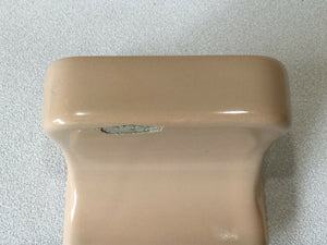 BA-1381 Vintage Ceramic Bathroom Tan Soap Dish AI