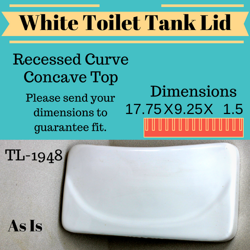 TL-1948AI Vintage Bevel Top Toilet Tank Lid White Mexico