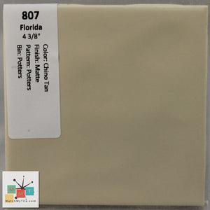 "MMT-807 Vintage 4 3/8"" Ceramic 1 pc Wall Tile FT Chino Tan Potters Matte"