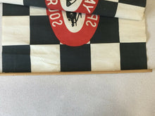 Load image into Gallery viewer, (I-1641) Vintage Speedway Souvenir Checkered Race Flag