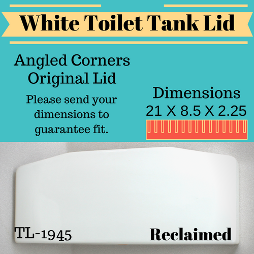 TL-1945 Vintage Toilet Tank Lid White 1989 USA Made