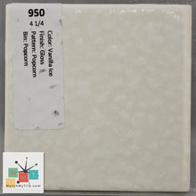 "Load image into Gallery viewer, MMT-950B Vintage 4 1/4"" Ceramic 1 pc Wall Tile Vanilla Ice Dapple Glossy Bullnose"