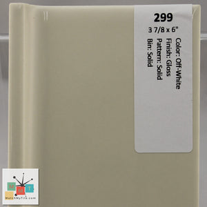 "MMT-299 Vintage 3 7/8 x 6"" Ceramic 1 pc Wall Tile Off-White White Glossy"