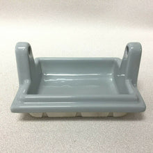 Load image into Gallery viewer, (BA-1139) NOS Vintage Ceramic Bathroom Gray Art Deco Toilet Paper Holder