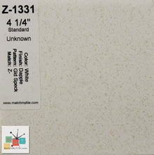 "Load image into Gallery viewer, MMT-1331B Vintage 4 1/4"" Ceramic 1pc Tile White Dapple Brown Speckled Bullnose"